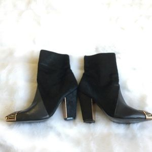 Ivy Kirzhner Cade Captoe Mixed Media Ankle Boots